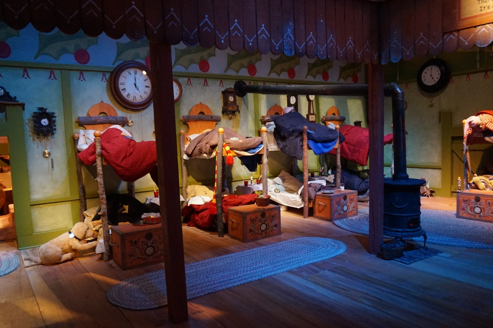 Elf bunk beds in the North Pole