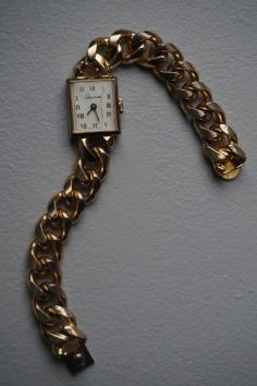 Schiaparelli gold tone watch